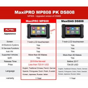 Image 5 - Autel MaxiPRO MP808 Auto Diagnostic Tool Full Systems Auto ECU IMMO Key Diagnostic Scan Tool Upgraded MK808 MX808 DS708