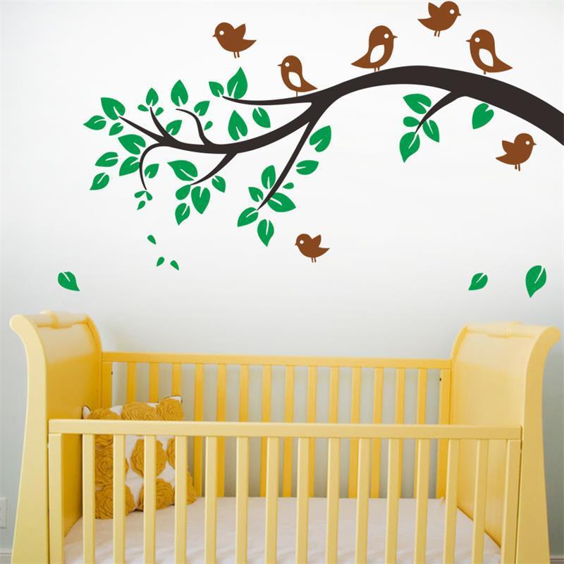 Cartoon Birds Tree Animal Forest Wall Stickers decals for Nursery ...