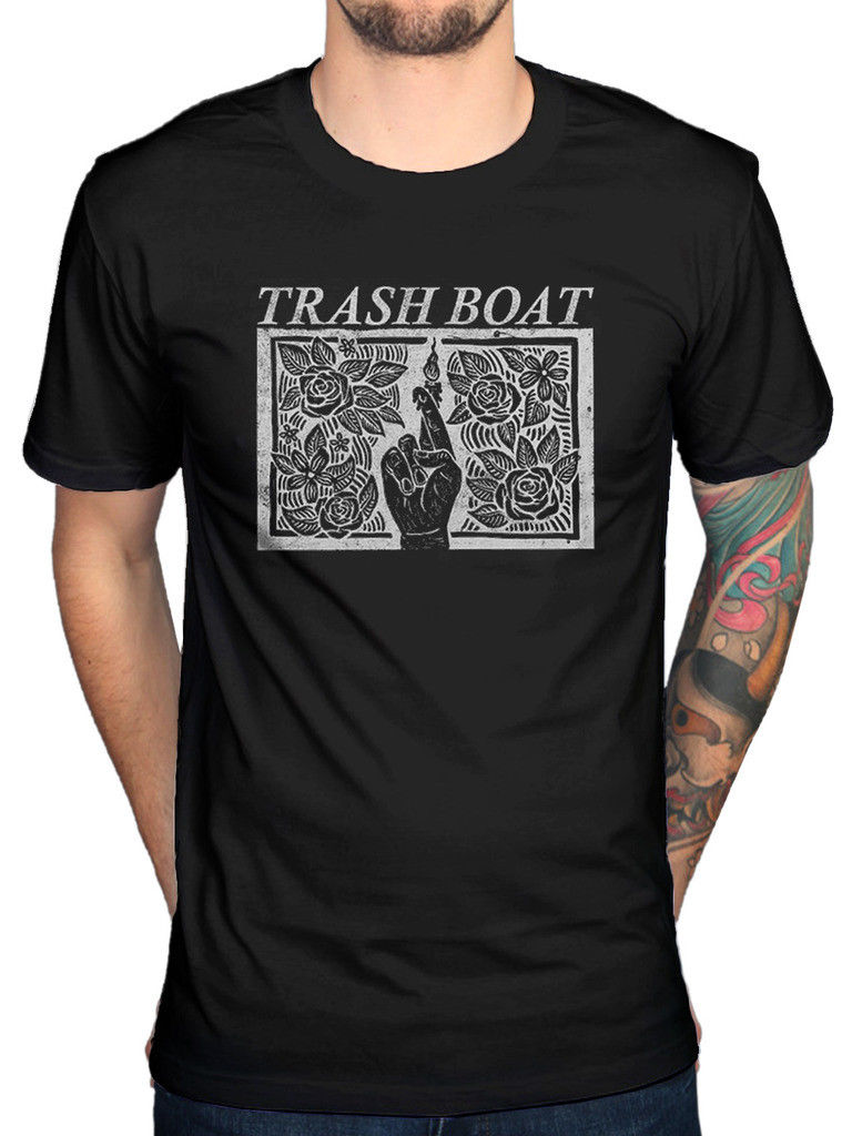 Trash Boat Fingers Crossed T-Shirt Brainwork Tring Quarry Second Wind MenS High Quality Tops Hipster Tees