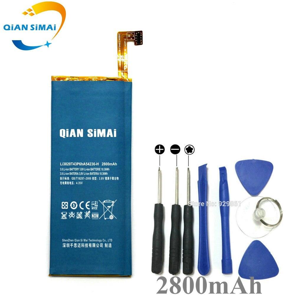 QiAN SiMAi LI3824T43P6hA54236-H Battery & Repair Tools for ZTE Nubia z7 mini Z7 mini NX507J Blade S6 5.0 inch G717C G718C Phone