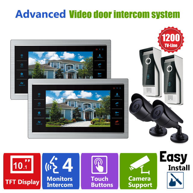 Homefong  Door Video Camera Video Doorbell System with Camera  3.7MM Lens Security  1200TVL 2V2V2  Home Apartment Entry Kit