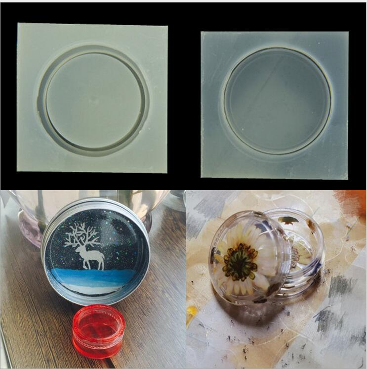 Small Round Box Silicone Mold Resin Molds DIY Storage Box