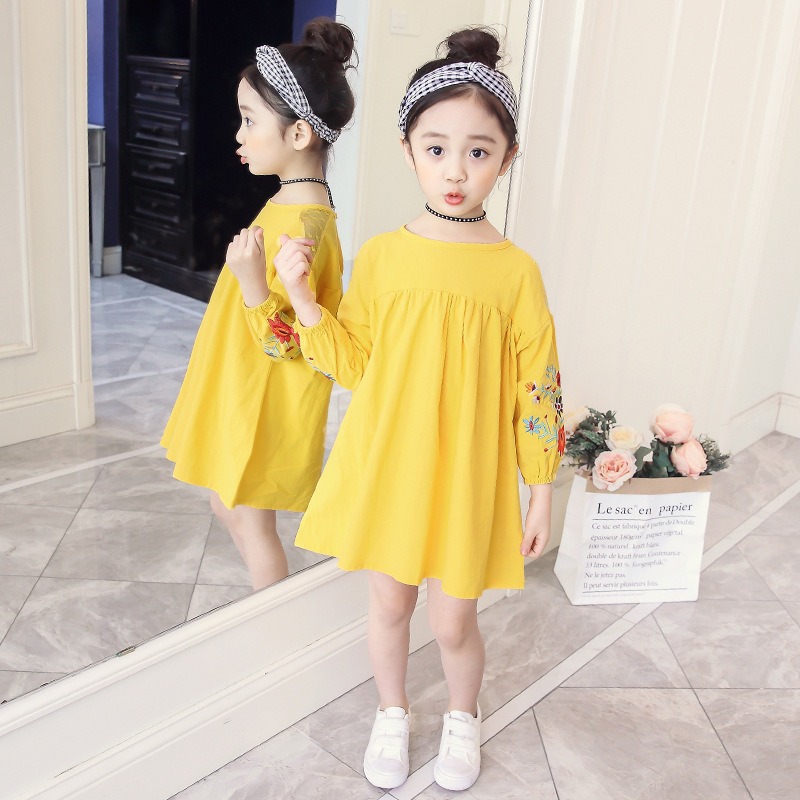 e2011f0c727 SOKOBX Girls Dress Spring Flower Embroidery Vestido Menina Teenage Dress  For Girls Casual Kids Teen Clothes 6 8 10 12 14 Year-in Dresses from Mother    Kids ...