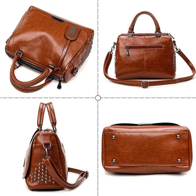 Oil Wax Leather Handbags  3