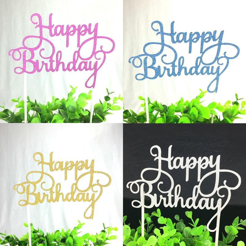 1 дана креативті торт топпер Туған - Мерекелік және кешкі заттар - фото 2
