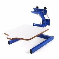 Регулируемый двойной весна устройств Экран печатная машина Пресс 1 Цвет 1 станция шелк Экран печатная машина