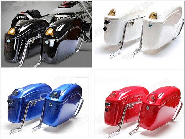 Motorcycle Hard Saddlebag Trunk Bag Luggage Tail Light Rail Bracket