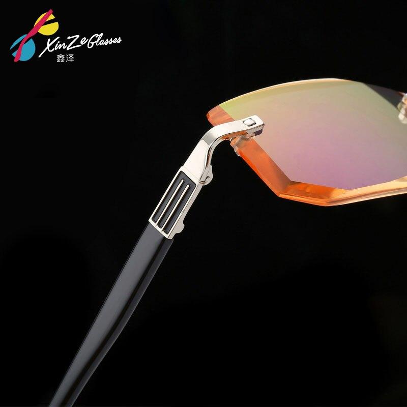 2017 new Brown Rimless Reading Glasses Men Women Frameless Points For Male Reader Men s Presbyopia