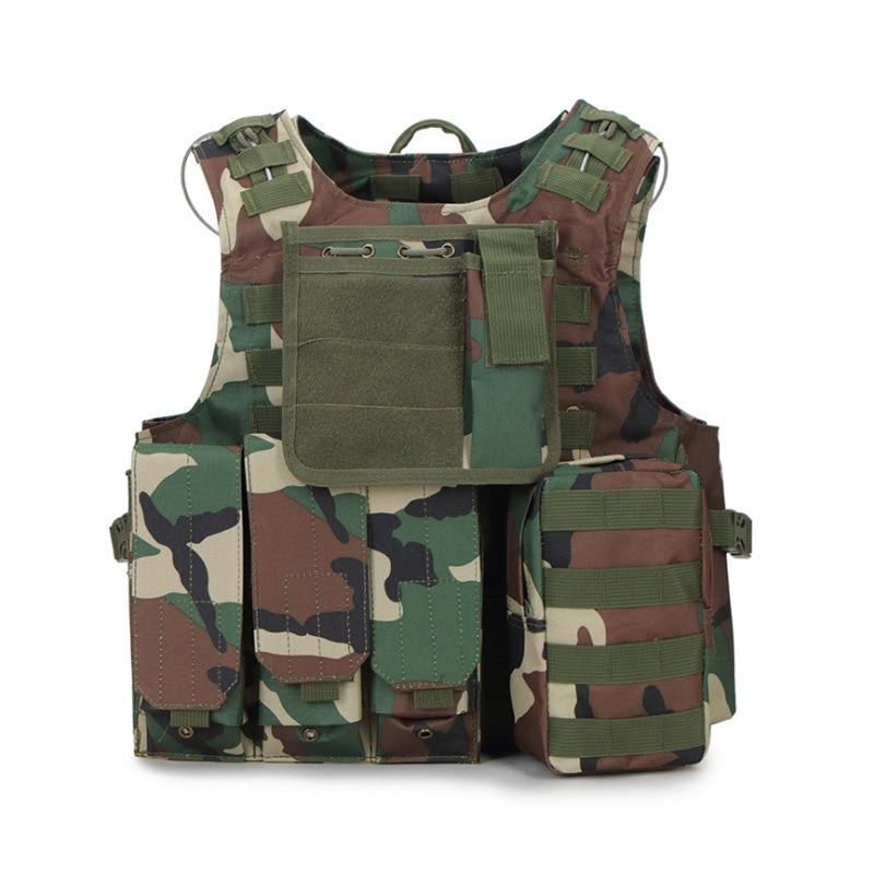 USMC Airsoft Military Tactical Vest Molle Combat Assault Carrier Plate Tactical Vest