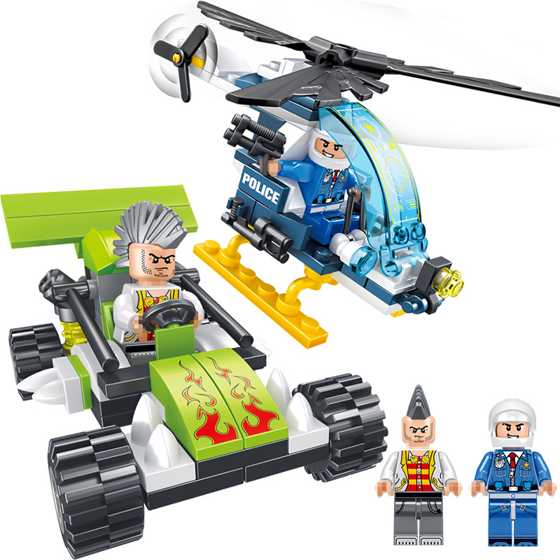 City Police Series Police helicopter Compatible LegoINGLY City Mini Action Figures Bricks Building Block Gift Toys For Children