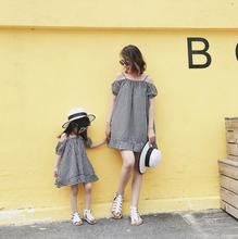 plaid tank mother daughter dresses mommy and me clothes family matching outfits look mom mum and girl mini dress clothing summer summer children girl lemon print dress cotton family clothing mini me kids mom girls casual dress mother daughter matching dress