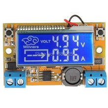Free Shipping DC-DC Step Down Power Supply Adjustable Module With LCD Display Without Housing Case