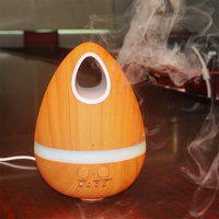 Wood Grain 200ml Cool Mist Humidifier Ultrasonic Aroma Essential Oil Diffuser For Office Home Bedroom Living