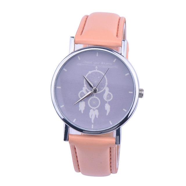 CLAUDIA Hot Sale New Arrival Brand Women Watch Fashion Favored Dreamcatcher Watches Ladies Fancy Faux Leather Quartz Wristwatch