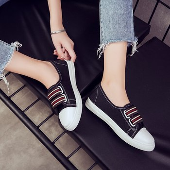 Puimentiua Women Canvas Shoes Vulcanice shoes zapatos de mujer Woman Sneakers Casual Slip On Shoes Female Summer Comfortable slip-on shoe