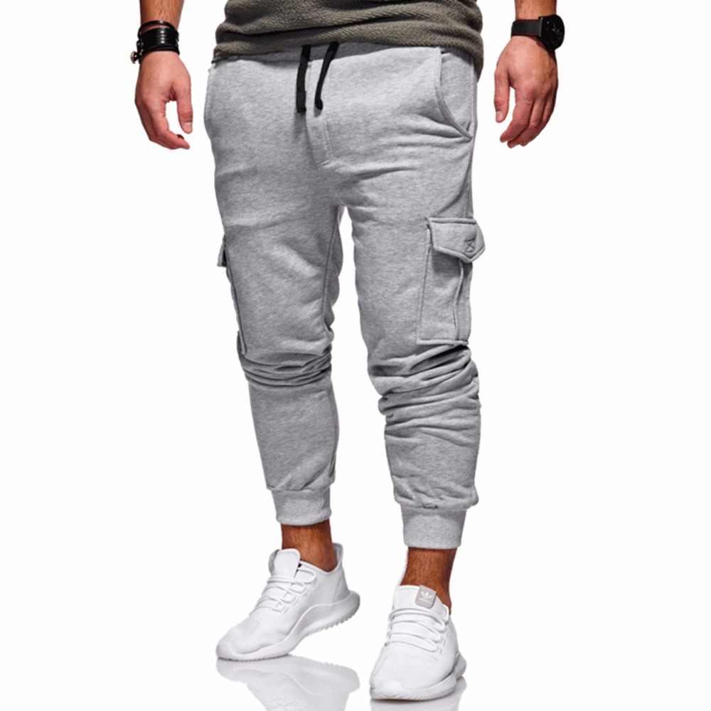 Мужская одежда 2018 мужские брюки карго брюки хип-хоп мужские s джоггеры твердые мульти-карманные брюки тренировочные брюки M-4XL pantalon homme
