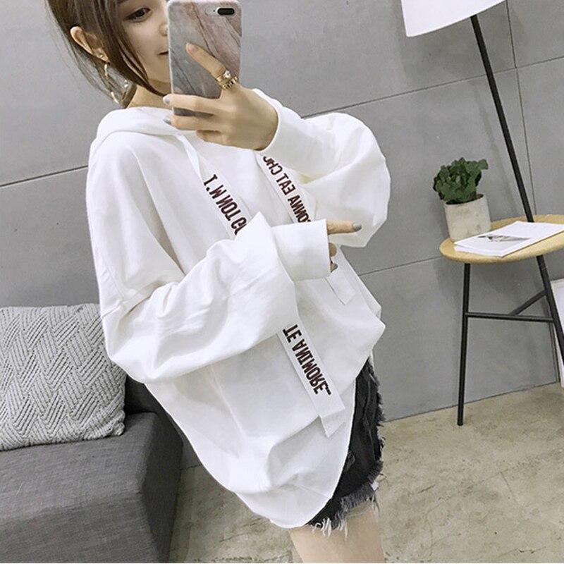 XX 2017 Harajuku Style Fashion Hip Hop Women Hooded Hoodies Black White Bf Boyfriend Fem ...