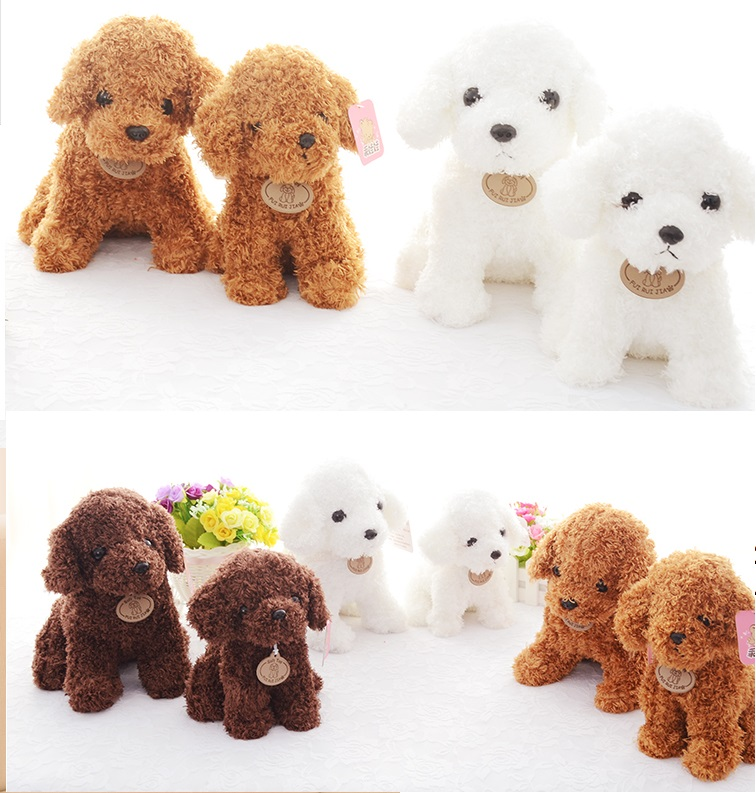 Candice guo plush toy stuffed doll cartoon animal emulational teddy dog Poodle puppy baby christmas present birthday gift 1pc candice guo cute plush toy stuffed doll sitting smiling akita dog puppy doge shiba dress scarf birthday christmas gift 1pc