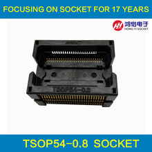 TSOP54-0.8 Opentop IC Test Socket Burn in Socket Programming Socket Adapter Conversion Block High Quality Eletronic Wholesale ssop24 ic test socket ots 28 0 65 01 tssop24 sop24 burn in socket programmer adapter conversion block connector
