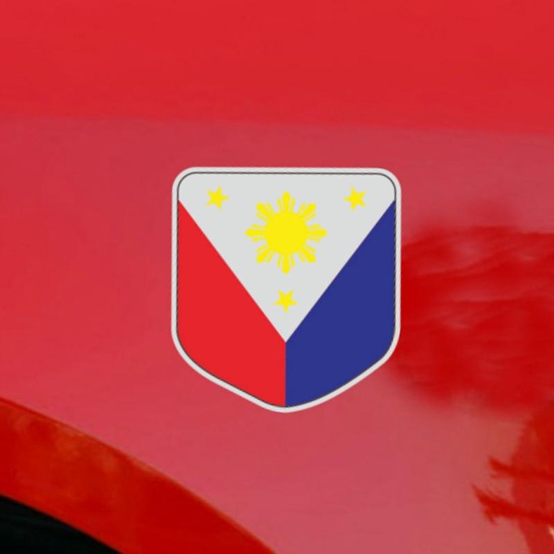 Philippines Flag Decal Sticker Car Vinyl Filipino Pilipinas Reflective Glossy
