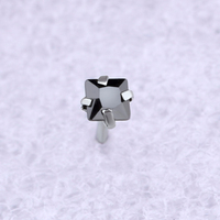 Wholesale 30pcs Pack Square Zircon Nose Lip Stud Ring Crystal Small Mini Earrings Body Piercing Jewelry