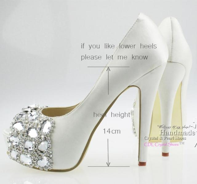 Lace Wedding Shoes Ivory Satin Peep Toe Shoes 5 inches heels fashion  women s platform white lace up high heels f7a1b21aaef2