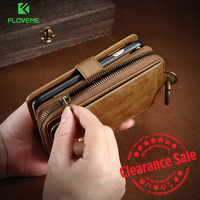 FLOVEME Vintage Wallet Leather Case For IPhone 7 8 6 6s Plus Flip Business Phone Bag