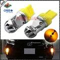 2 unids CRE'E 7440 992 7440A Ámbar Amarillo de Alta Potencia LED bombillas para el Delantero Trasero Señal de Vuelta luces Traseras, Luces de Circulación Diurna DRL luces