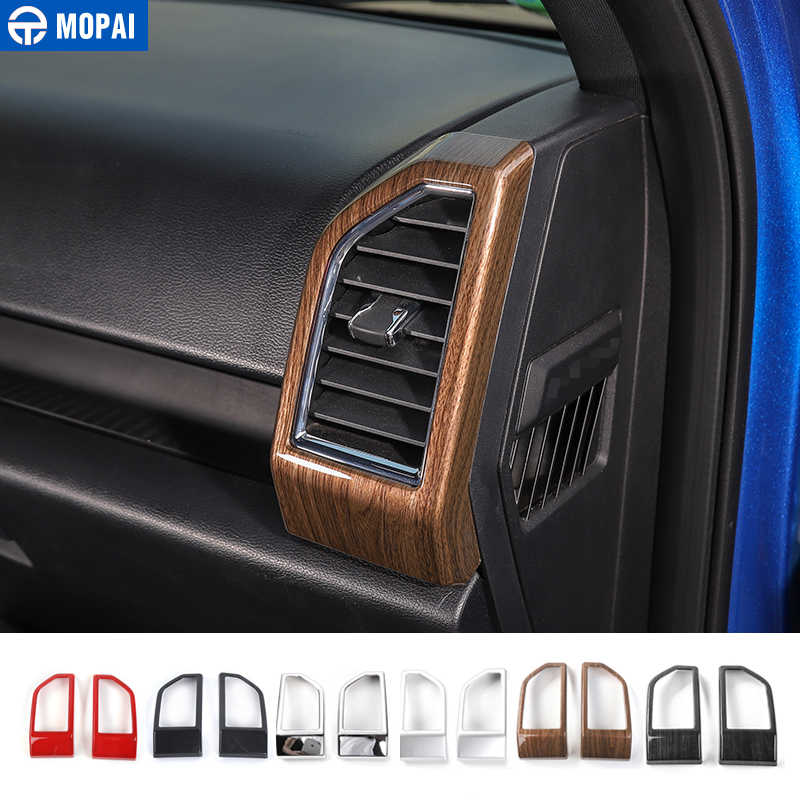 MOPAI ABS Car Interior Dashboard Air Conditioning Vent Outlet Decoration Cover Frame Stickers For Ford F150 2015+ Car StylingMOPAI ABS Car Interior Dashboard Air Conditioning Vent Outlet Decoration Cover Frame Stickers For Ford F150 2015+ Car Styling