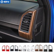 MOPAI ABS Car Interior Dashboard Air Conditioning Vent Outlet Decoration Cover Frame Stickers For Ford F150 2015+ Car Styling