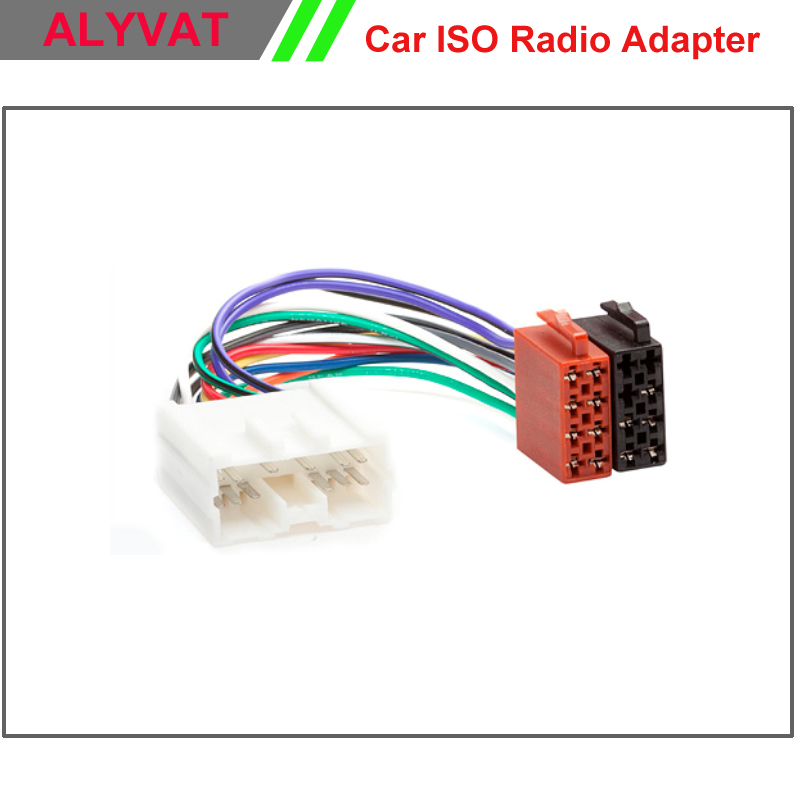 Car ISO Stereo Wiring Harness For Mitsubishi 1996 2006 Lead Loom
