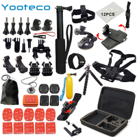 YOOTECO For Gopro Accessories Set For Go Pro Hero 5 4 3 Kit Mount For SJCAM