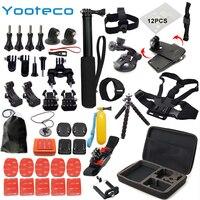 YOOTECO For Gopro Accessories Set For Go Pro Hero 5 4 3 Kit Mount For SJCAM