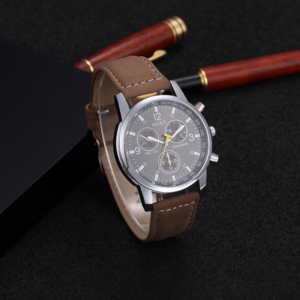 mænds forretningsklokke mænds armbåndsur mand kvarts ur sport - Mænds ure - Foto 4