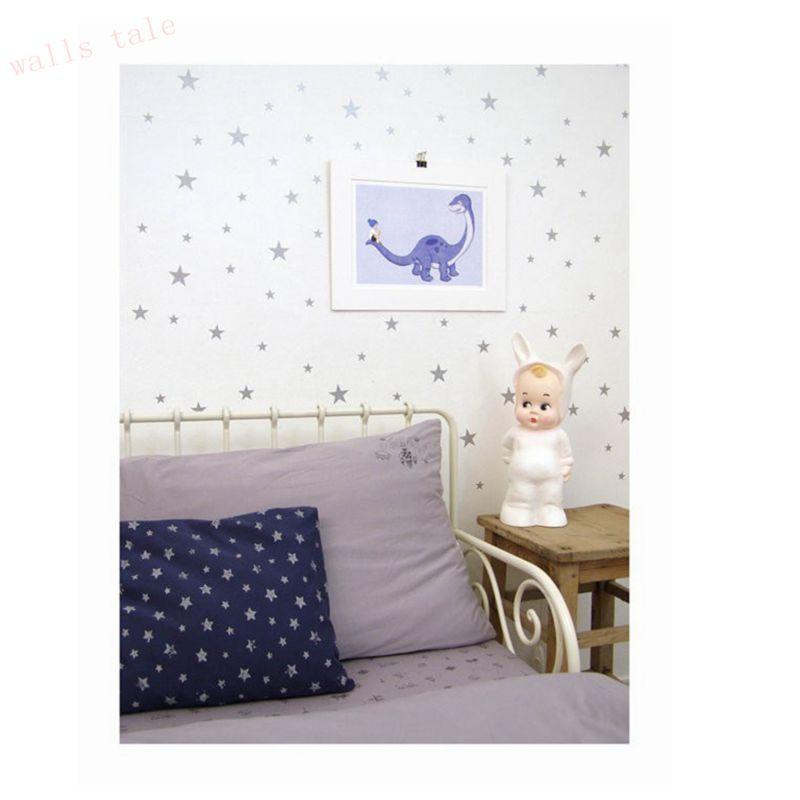 Gold Stars Pattern Vinyl Wall Art Decals Nursery Room ...