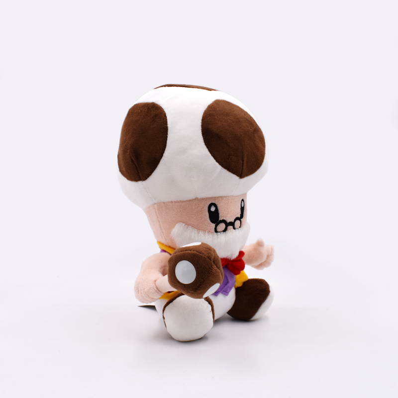 2018 Super Mario Bros Plush Toys Soft Stuffed Dolls 10inch 25cm Mushroom Old Man Peluche Toys Figures Dolls For Children's Gift 2