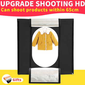 80*80*80CM 5500k Folding Led Light box Portable Lightbox Dimmable Photo BOX kit for Shooting Clothing