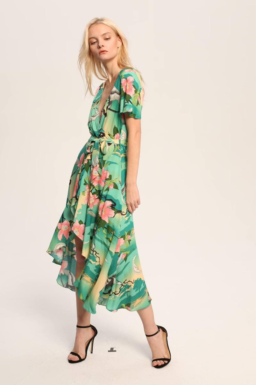 e2a378fa0f0 2019 Jastie Ethereal Lily Maxi Dress V Neck Wrap Dresses Boho Chic ...