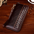 Cowhide! Multi Card Holders Genuine Leather Men's Clutch Wallet Vintage Long Purse for Male Coffee Clutch Bag Business Handbag