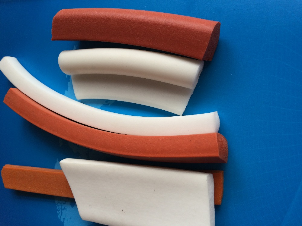 Direct Selling Extrued Silicone Sponge Strip, 5X30mmX5meters Square Foam Silicon Strip, White Color Silicone Foam Strip