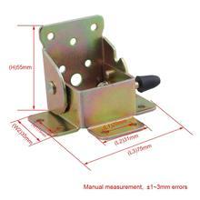 Mesa de extensión de hierro de 75x60x55mm, pie de cama, soporte plegable, pata suave para mesa, soporte plegable, tipo tornillo, Juego de 4