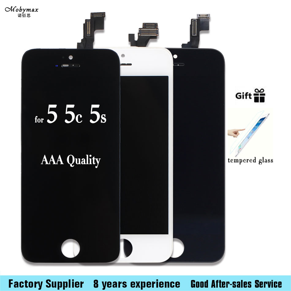100% AAA Quality Pantalla Assembly For iPhone 5 5S 5C LCD Display with Touch Screen Digitizer for iPhone 5 LCD Screen