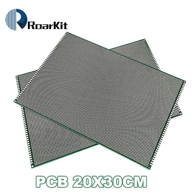 5PCS LOT 20x30 cm PROTOTYPE PCB 2 layer 20 30 panel Universal Board double side