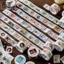 Vintage sello pegatinas Kawaii cinta adhesiva pegatinas con diseño de cerdo para niños Scrapbooking DIY álbumes de fotos suministros papelería
