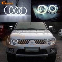 For Mitsubishi Challenger Pajero Sport 2008 2014 Excellent Ultra Bright Headlight Illumination CCFL Angel Eyes Kit