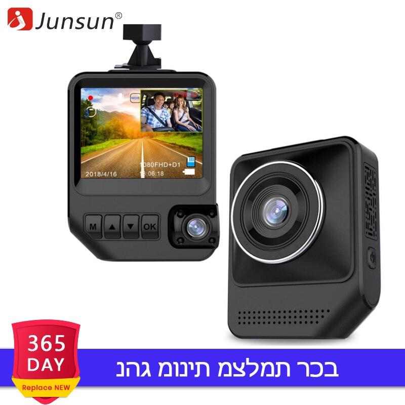 Junsun Q2 Car DVR Camera Novatek SONY IMX323 Dual Lens FHD 1080P G Senor Video Looping