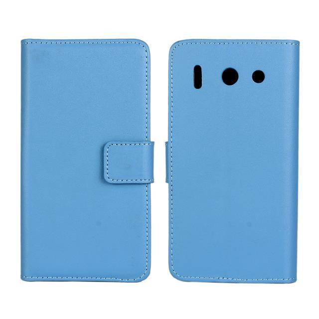 High Quality Genuine Leather Wallet Style Stand Phone Back Cover with Card Holder and TV Function Case For Huawei Ascend G510