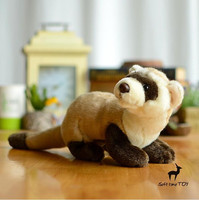 Plush Animals Black Footed Ferret Doll Stuffed Children S Toys Simulation Animal Dolls Rare Gifts
