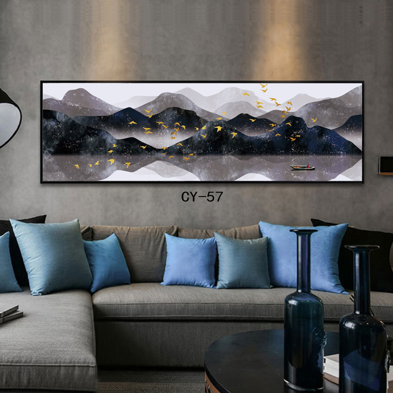 Large Wall Art Canvas Prints Chinese Mountain And River Painting Picture Hall Living Room Decor Canvas Art Wall Poster Print Aliexpress