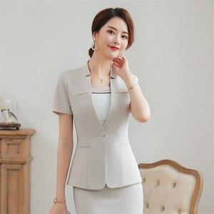 Sale Price 2019 New Women Skirt Suit Two Pieces Set Short Sleeve Tops & Skirt For Summer Office Ladies Uniform Work Wear Jacket + Skirt — wickedsick